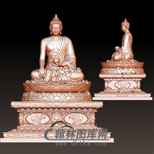 佛祖佛像立体圆雕图(YFX-010)
