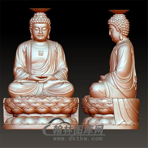 佛像立体圆雕图(YFX-015)