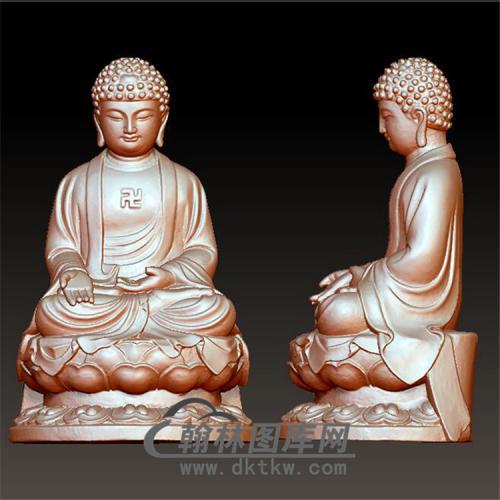 佛像立体圆雕图(YFX-016)