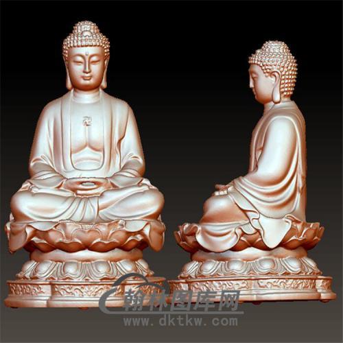 佛像立体圆雕图(YFX-017)