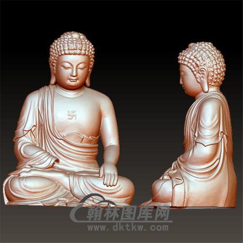 佛像立体圆雕图(YFX-018)