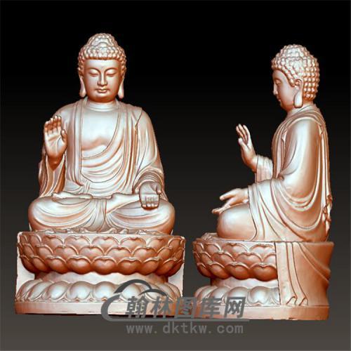 佛像立体圆雕图(YFX-020)