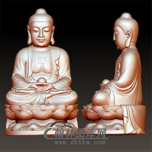 佛像立体圆雕图(YFX-021)