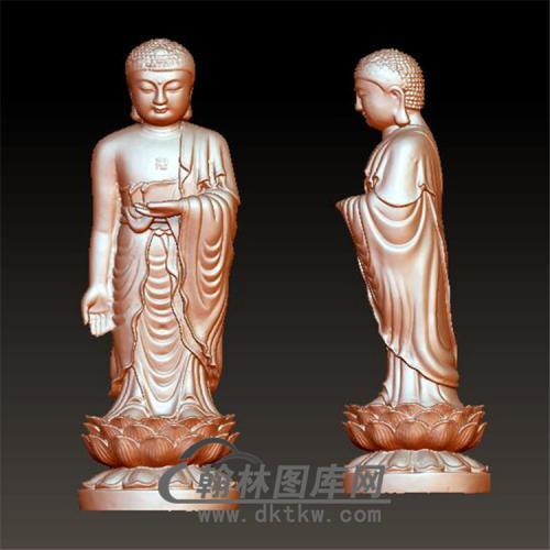 佛祖释伽牟尼立体圆雕图(YFX-022)