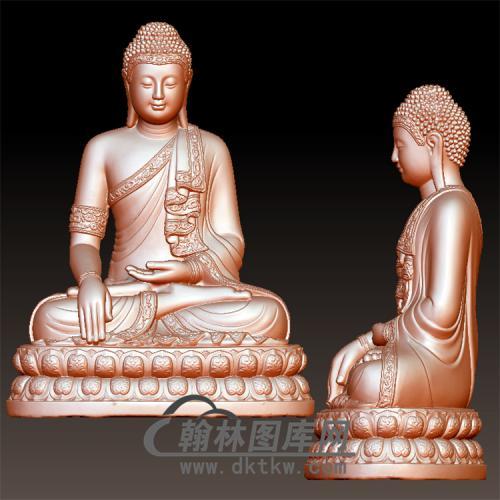 佛像立体圆雕图(YFX-031)