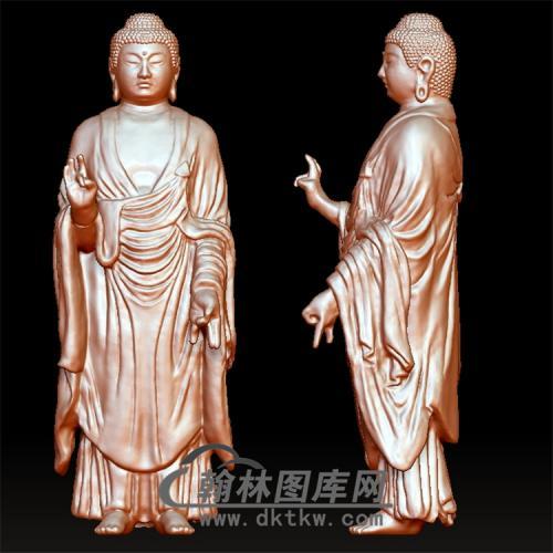 佛陀立体圆雕图(YFX-037)