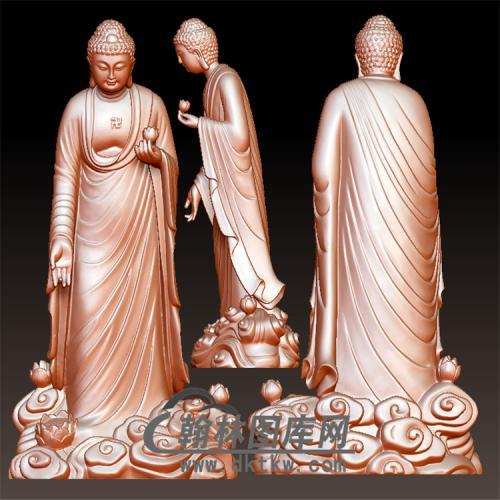 佛像立体圆雕图(YFX-038)