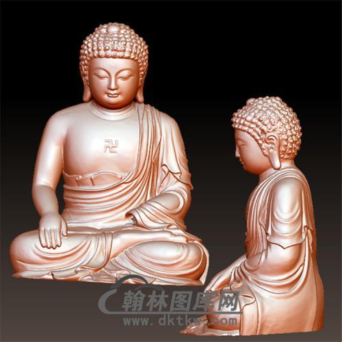 佛像立体圆雕图(YFX-039)