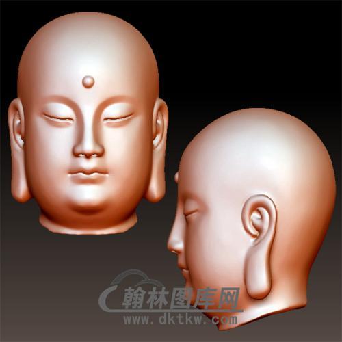 小和尚头立体圆雕图(YFX-044)