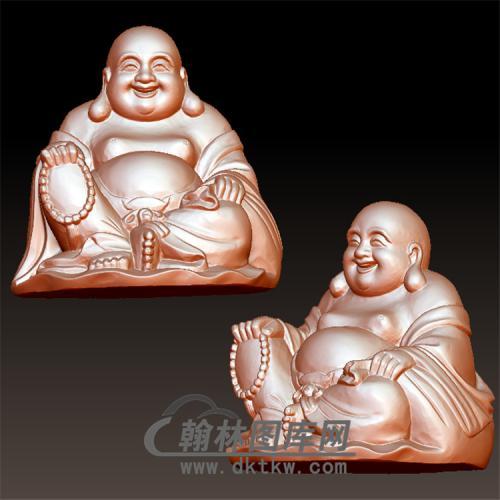 弥勒佛坐立体圆雕图(YML-007)