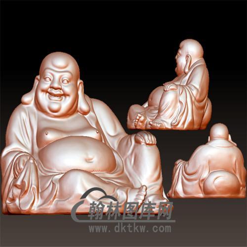 天池-坐弥勒佛立体圆雕图(YML-171)
