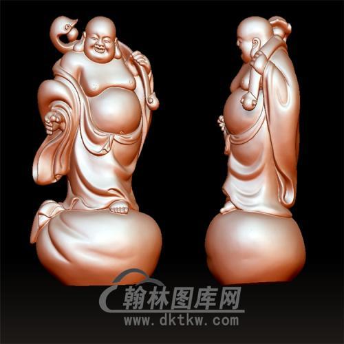 笑佛宝珠站式弥勒立体圆雕图(YML-175)