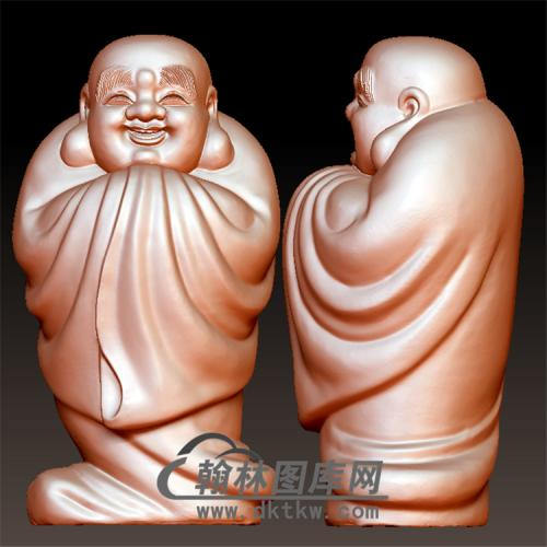 笑弥勒佛圆雕立体圆雕图(YML-177)