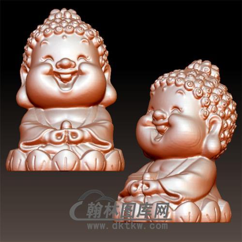 坐莲小佛立体圆雕图(BBF-006)
