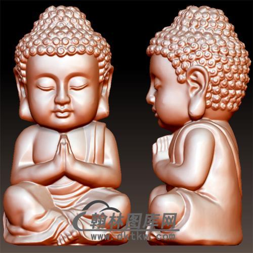 Q版释迦摩尼立体圆雕图(BBF-012)