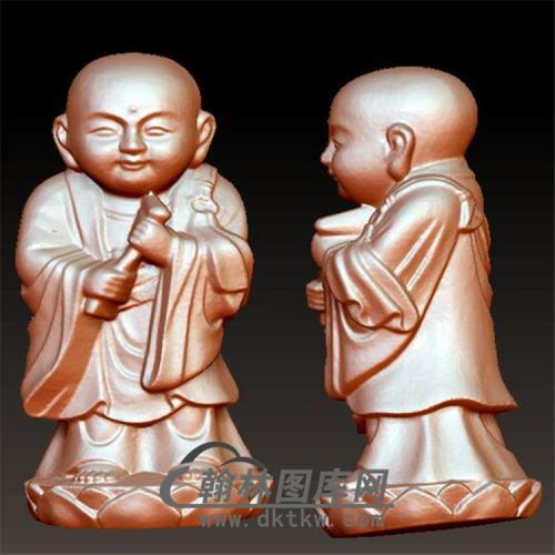 小和尚立体圆雕图(BBF-020)
