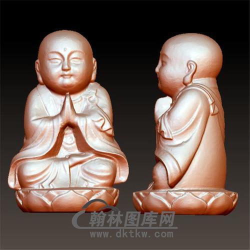 小和尚立体圆雕图(BBF-021)