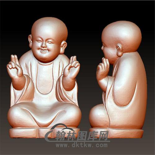 欢乐小和尚立体圆雕图(BBF-036)