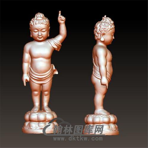 指天宝宝佛摆件立体圆雕图(BBF-038)