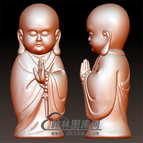 光头小和尚Q立体圆雕图(BBF-046)