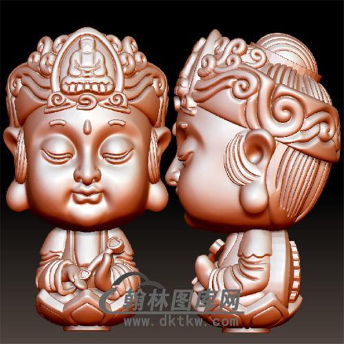 普贤菩萨立体圆雕图(BBF-048)