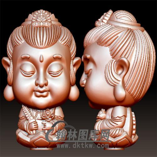 虚空藏菩萨立体圆雕图(BBF-053)