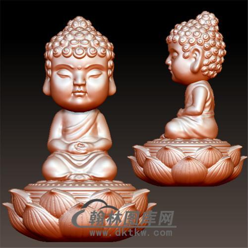 坐莲宝宝如来立体圆雕图(BBF-055)