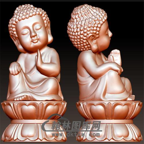 坐莲台宝宝佛立体圆雕图(BBF-057)