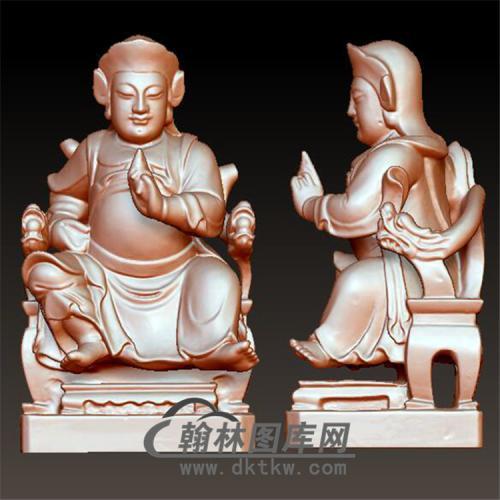玄天上帝 玄武大帝立体圆雕图(YQT-022)