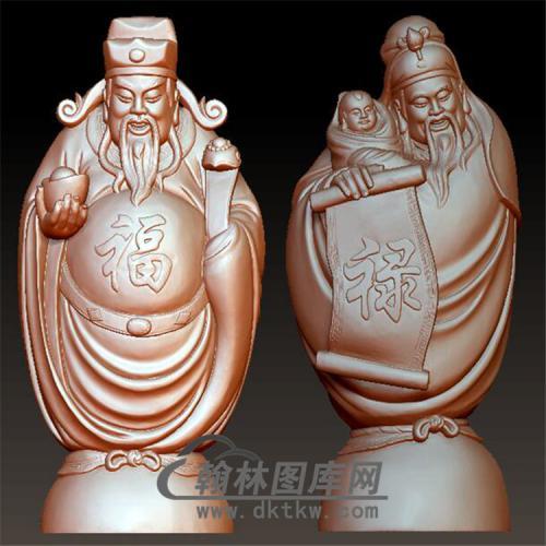 福禄立体圆雕图(YQT-027)
