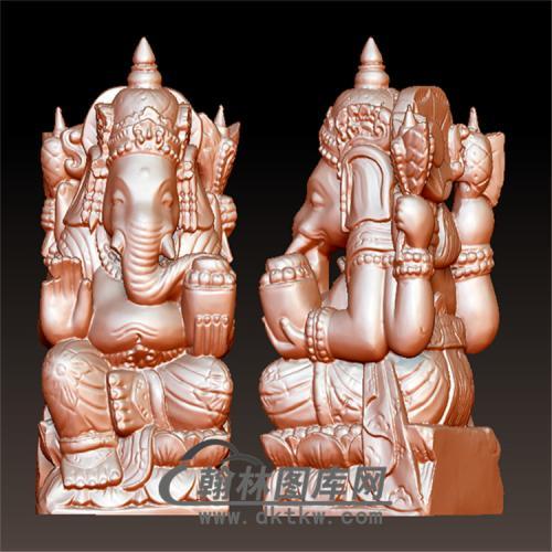 泰国象财神立体圆雕图(YQT-028)