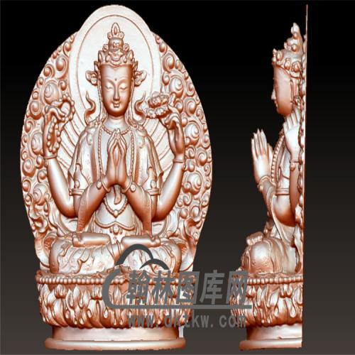 藏式千手观音立体圆雕图(YQT-041)