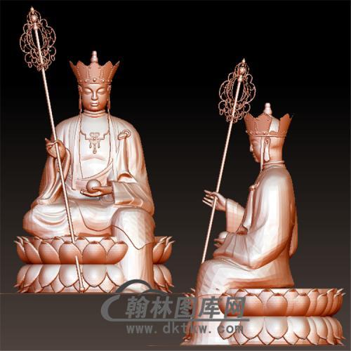 地藏菩萨立体圆雕图(YQT-042)