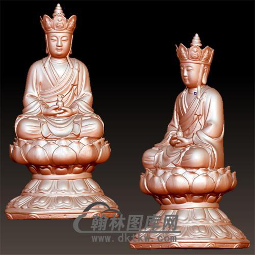 唐僧打坐立体圆雕图(YQT-053)