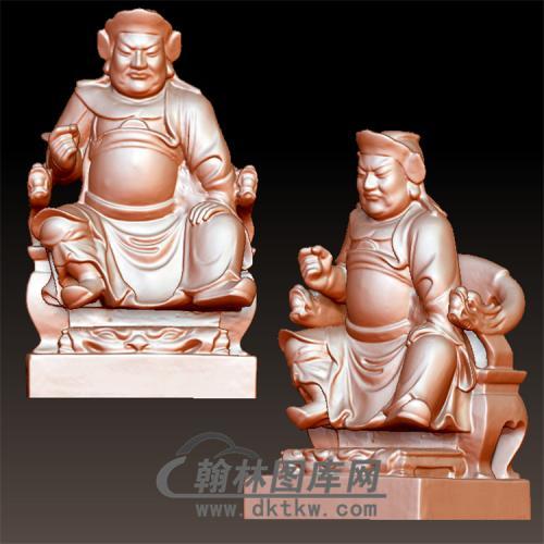 坐福神立体圆雕图(YQT-063)