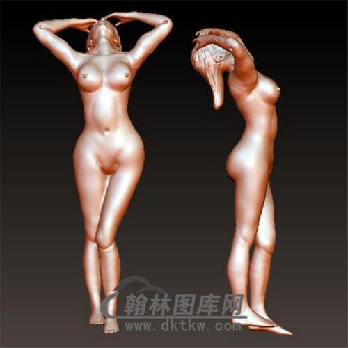 美女弹弓立体圆雕图(YDG-022)