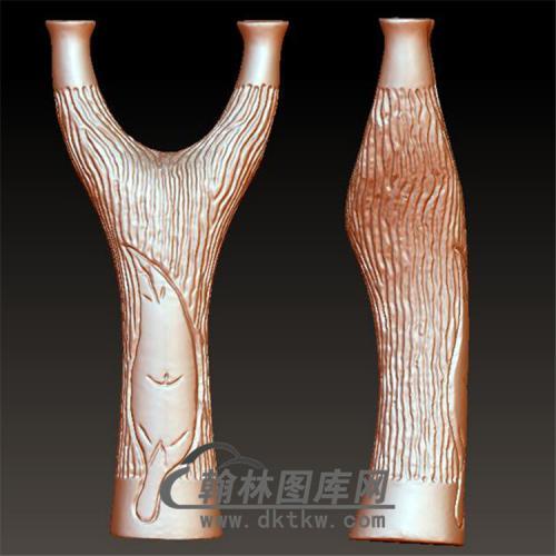 木纹弹弓立体圆雕图(YDG-023)