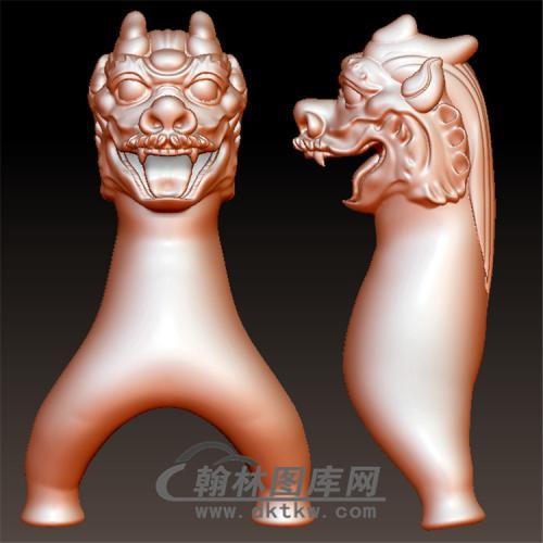 龙头弹弓立体圆雕图(YDG-043)