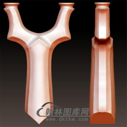 直板天罡弹弓立体圆雕图(YDG-055)