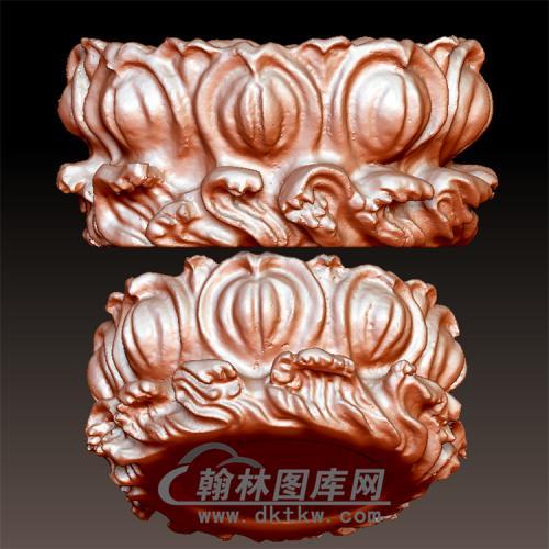 莲花座立体圆雕图(YDZ-008)
