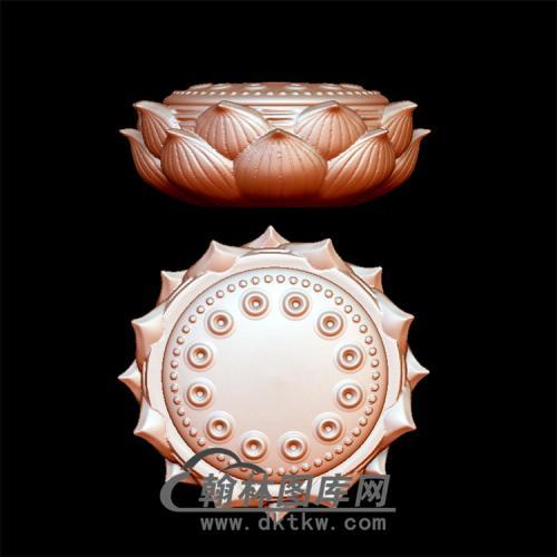 莲花座立体圆雕图(YDZ-009)