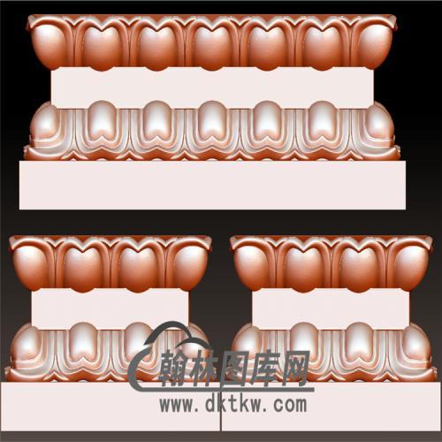 莲花底座立体圆雕图(YDZ-013)