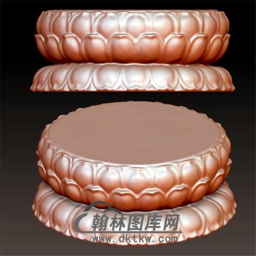 莲花座立体圆雕图(YDZ-015)