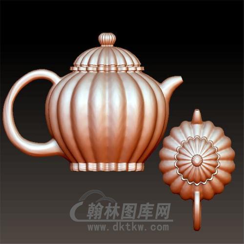 南瓜茶壶立体圆雕图(YH-005)