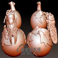 金蟾葫芦立体圆雕图(YHL-026)