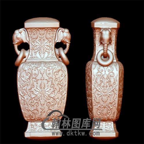 仿古花瓶立体圆雕图(YHL-003)