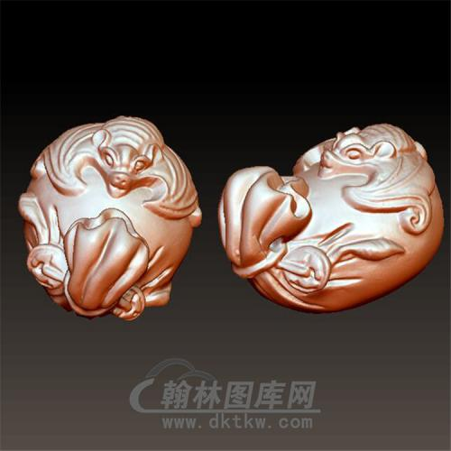 蝙蝠钱袋立体圆雕图(YQD-003)