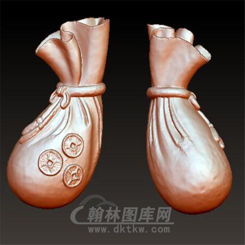 布袋钱袋立体圆雕图(YQD-008)