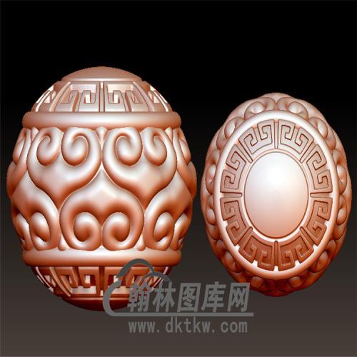 回纹圆珠立体圆雕图(YST-010)