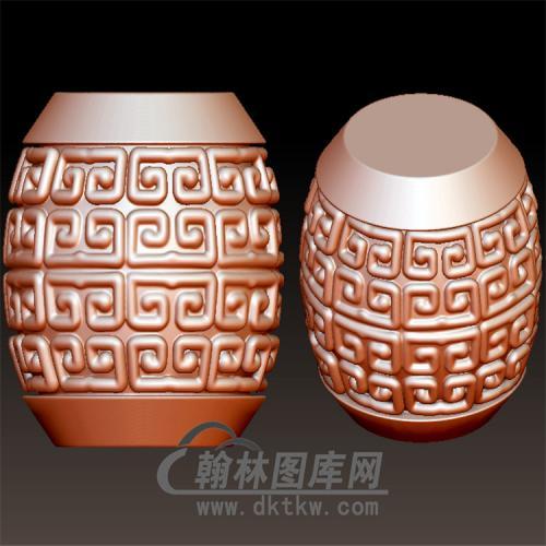 回纹筒珠立体圆雕图(YST-012)